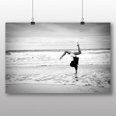 Big Box Art Beach Gymnastics Fitness Photographic Print