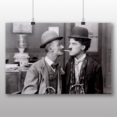 Big Box Art Ben Turpin and Charlie Chaplin Photographic Print Wrapped on Canvas