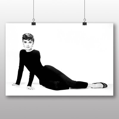 Big Box Art Audrey Hepburn No.3 Photographic Print on Canvas