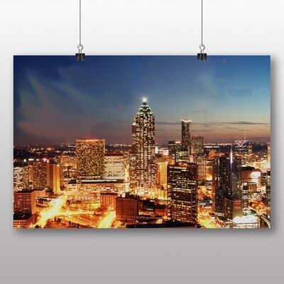 Big Box Art Atlanta Georgia Skyline USA Photographic Print on Canvas
