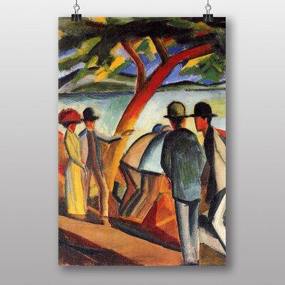 "Big Box Art ""Promenade"" by the Lake by August Macke Art Print"