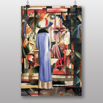 "Big Box Art ""Woman in Front of a Window"" by August Macke Art Print"