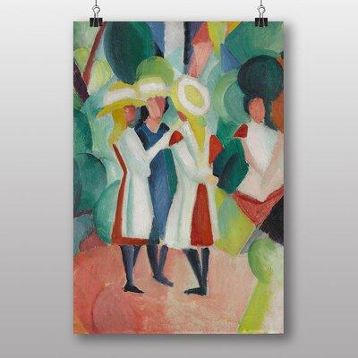 "Big Box Art ""Three Girls"" by August Macke Art Print"