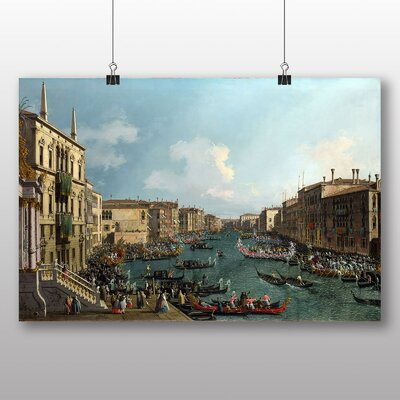 Big Box Art 'Landscape with Buildings' by Bernado Bellotto Canaletto Art Print