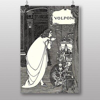 "Big Box Art ""Volpone Adoring his Teasures"" by Aubrey Beardsley Art Print"