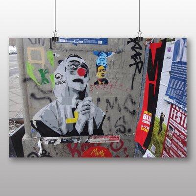 Big Box Art Berlin Wall Germany Graffiti No.4 Photographic Print Wrapped on Canvas