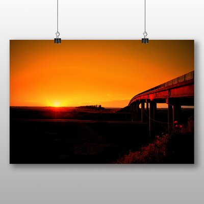 Big Box Art Beautiful Sunset No.4 Photographic Print on Canvas