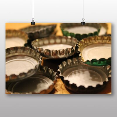 Big Box Art Beer Bottle Tops Caps Photographic Print on Canvas
