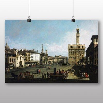Big Box Art 'The Piazza della Signoria in Florence' by Bernado Bellotto Canaletto Art Print