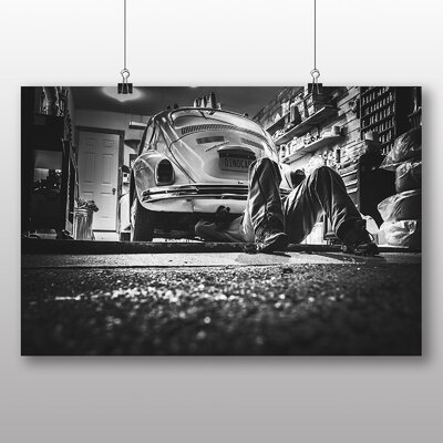 Big Box Art Beetle Vintage Classic Car Photographic Print on Canvas