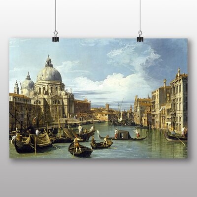 Big Box Art 'The Entrance to the Grand Canal' by Bernado Bellotto Canaletto Graphic Art
