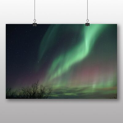 Big Box Art Aurora Borealis The Northern Lights No.16 Graphic Art Wrapped on Canvas