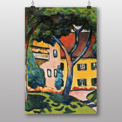 """Big Box Art """"House in Tagersee"""" by August Macke Art Print"""