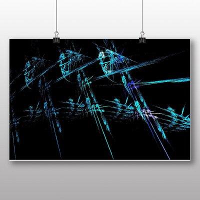 Big Box Art Blue Fractal Abstract No.6 Graphic Art on Canvas