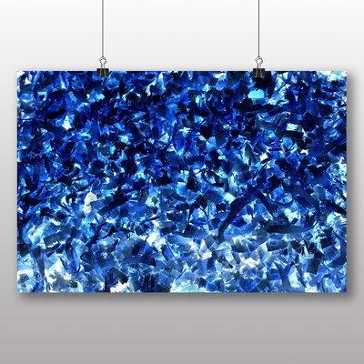 Big Box Art Blue Abstract Design No.7 Art Print on Canvas