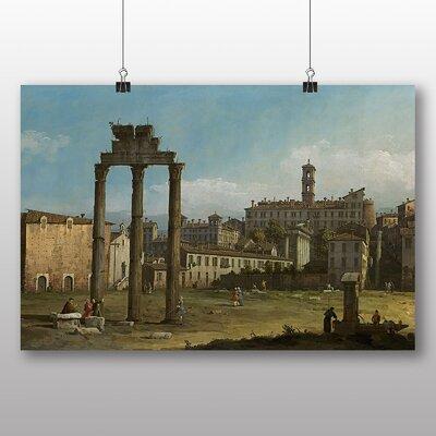 Big Box Art 'Ruins of the Forum in Rome' by Bernado Bellotto Canaletto Art Print