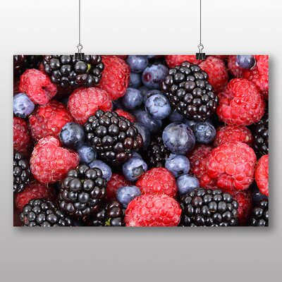Big Box Art Berries Photographic Print Wrapped on Canvas