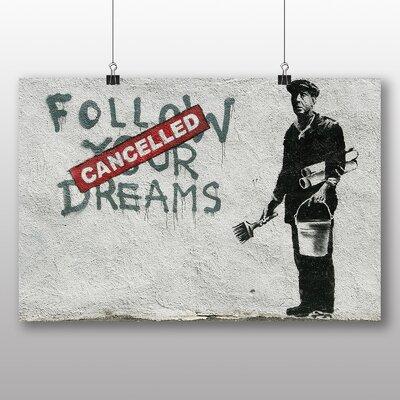 "Big Box Art ""Follow Your Dreams Graffiti"" by Banksy Art Print on Canvas"