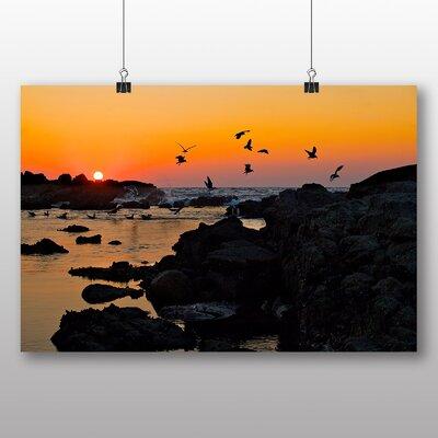 Big Box Art Baiona Spain Sunset Photographic Print