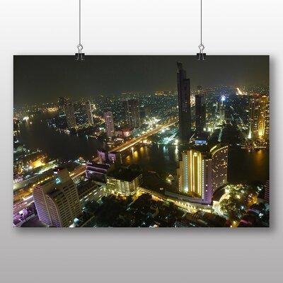 Big Box Art Bangkok Thailand Skyline No.2 Photographic Print Wrapped on Canvas