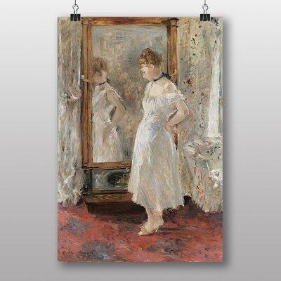 "Big Box Art ""Reflection in the Mirror"" by Berthe Morisot Art Print"