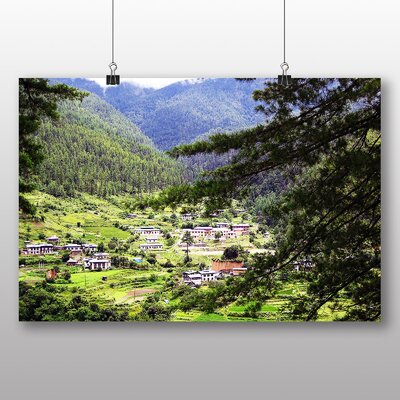 Big Box Art Bhutan Mountains Photographic Print Wrapped on Canvas
