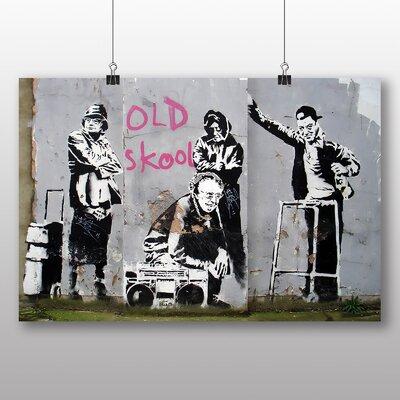 "Big Box Art ""Old Skool Graffiti"" by Banksy Art Print Wrapped on Canvas"
