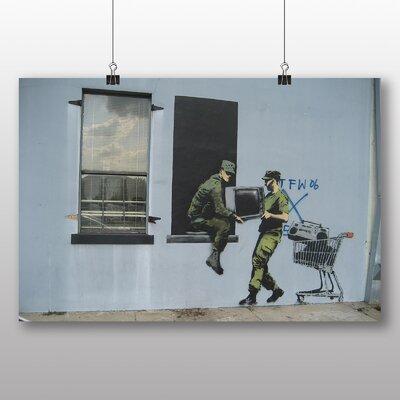 Big Box Art Looters New Orleans Graffiti by Banksy Art Print