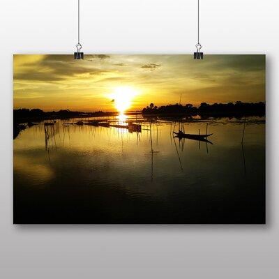 Big Box Art Bangladesh Sunset No.2 Photographic Print on Canvas