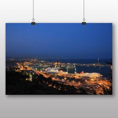 Big Box Art Barcelona Spain Skyline No.2 Photographic Print on Canvas