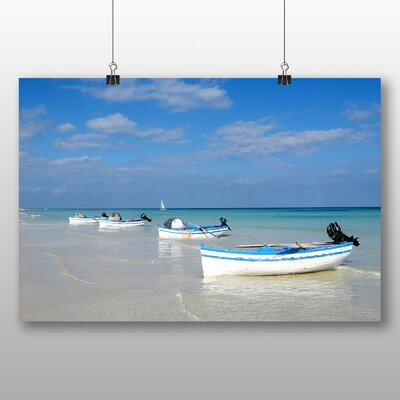 Big Box Art Boats in Tunisia Photographic Print Wrapped on Canvas