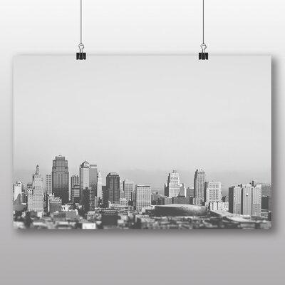 Big Box Art 'Black and White City View' Photographic Print
