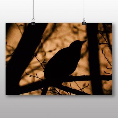Big Box Art Blackbird No.3 Photographic Print Wrapped on Canvas