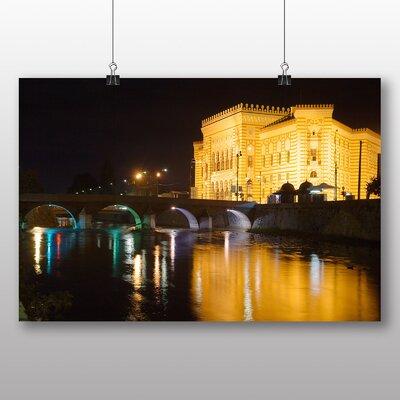 Big Box Art Bosnia and Herzegovina Bridge No.2 Photographic Print Wrapped on Canvas