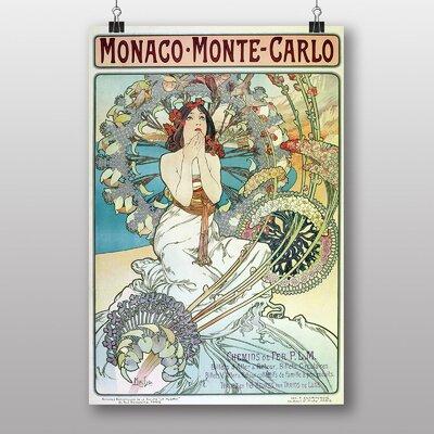 "Big Box Art ""Monaco Monte Carlo"" by Alphonse Mucha Art Print"