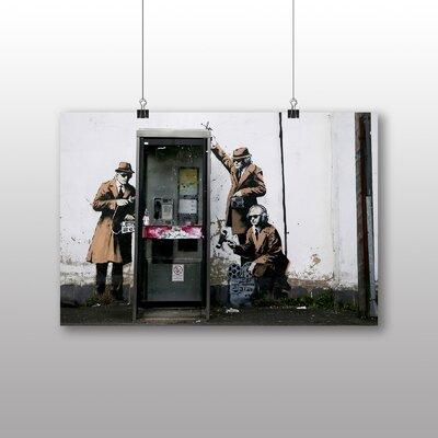 Big Box Art Spies CIA FBI Graffiti by Banksy Art Print