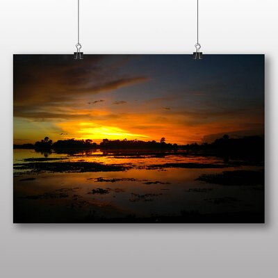 Big Box Art Bangladesh Sunset No.1 Photographic Print Wrapped on Canvas
