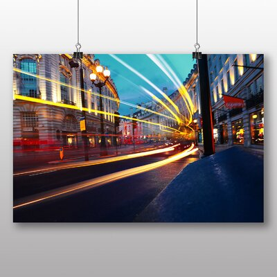 Big Box Art Blurred Lights London Photographic Print on Canvas