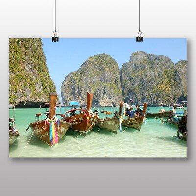 Big Box Art Boats Tropical Island Photographic Print