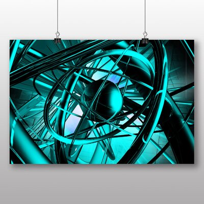 Big Box Art Blue Abstract Design No.5 Graphic Art Wrapped on Canvas