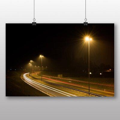 Big Box Art 'Blurred Lights on the Highway' Photographic Print