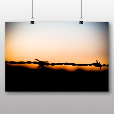 Big Box Art 'Barbed Wire and Sunset' Photographic Print