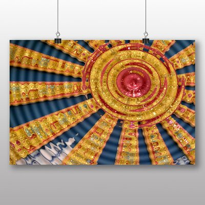 Big Box Art Abstract Sunbeams Graphic Art on Canvas