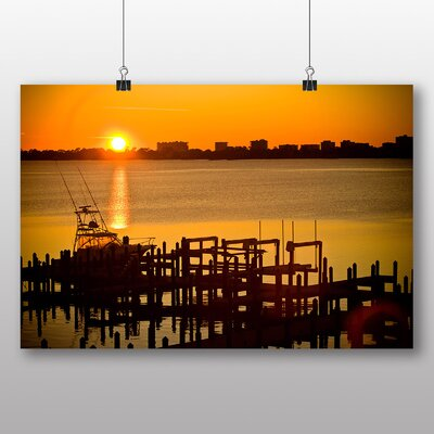 Big Box Art 'Boat Home at Sunset' Photographic Print