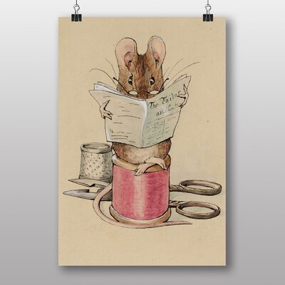 """Big Box Art """"The Tailor Mouse"""" by Beatrix Potter Art Print Wrapped on Canvas"""