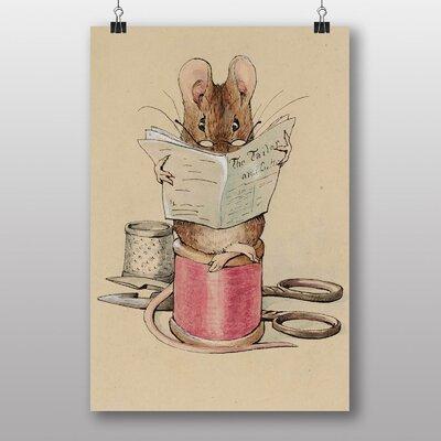 Big Box Art 'The Tailor Mouse' by Beatrix Potter Art Print