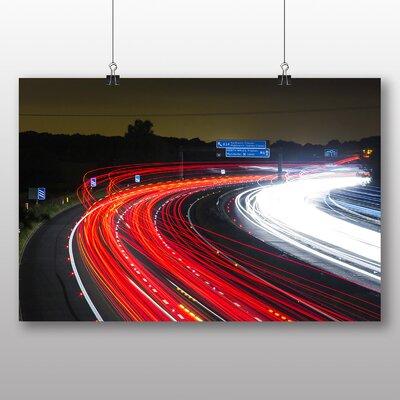 Big Box Art Blurred Lights Road No.1 Graphic Art on Canvas