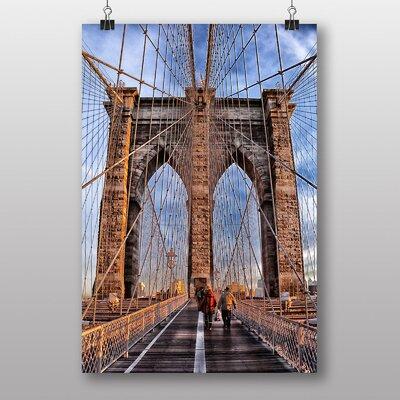 Big Box Art Brooklyn Bridge New York USA No.4 Photographic Print Wrapped on Canvas