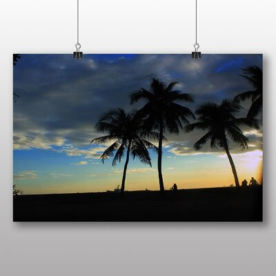 Big Box Art Beach Sunset No.1 Photographic Print Wrapped on Canvas