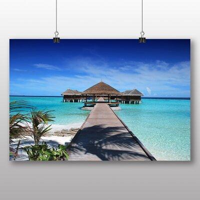 Big Box Art Beach Maldives No.3 Photographic Print Wrapped on Canvas